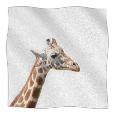 Giraffe by Sylvia Coomes Fleece Blanket