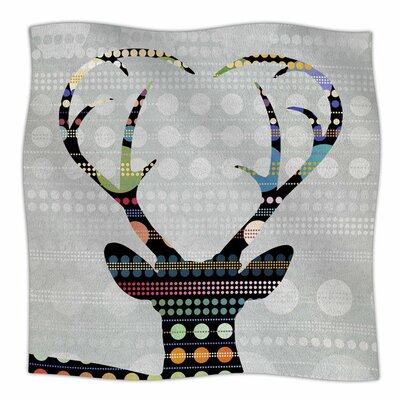 Pop Deer by Angelo Carantola Fleece Blanket