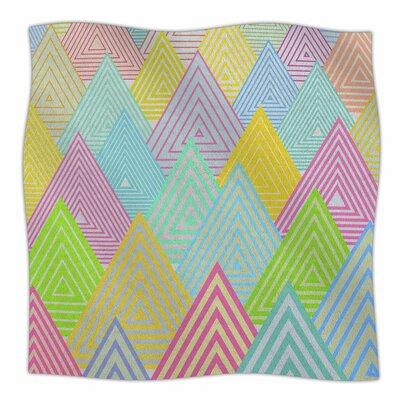 Pastel Mountains by Angelo Carantola Fleece Blanket