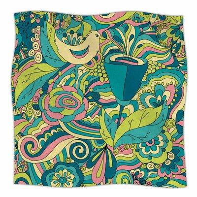 Birds in Garden by Alisa Drukman Fleece Blanket