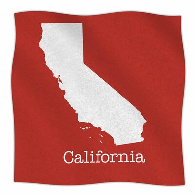 California State on Golden Red by Bruce Stanfield Fleece Blanket