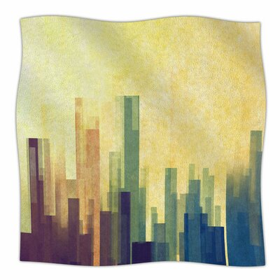 Cloud City by Cvetelina Todorova Fleece Blanket