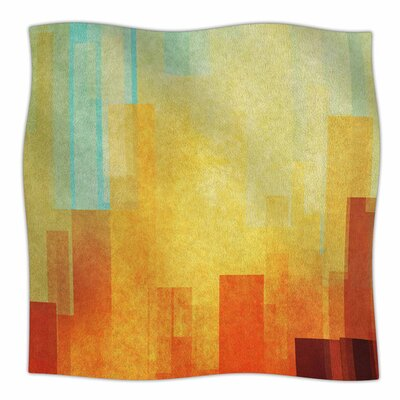 Urban Sunset by Cvetelina Todorova Fleece Blanket