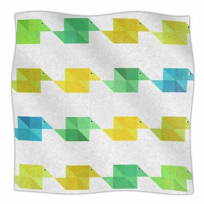 Duck Pattern by Cvetelina Todorova Fleece Blanket