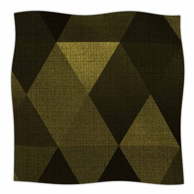Golden Triangles by Cvetelina Todorova Fleece Blanket