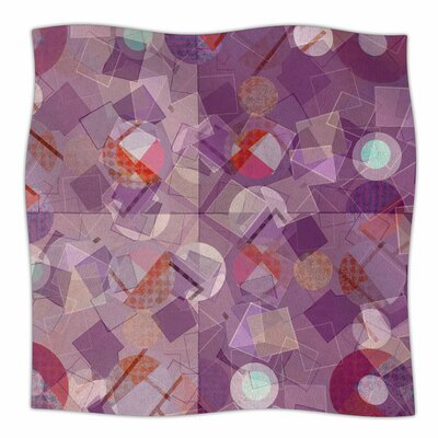 Purple Mess by Cvetelina Todorova Fleece Blanket