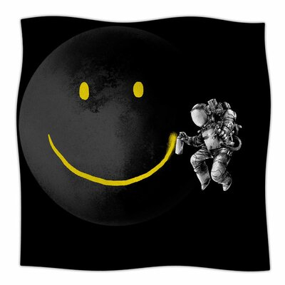 Make a Smile by Digital Carbine Fleece Blanket