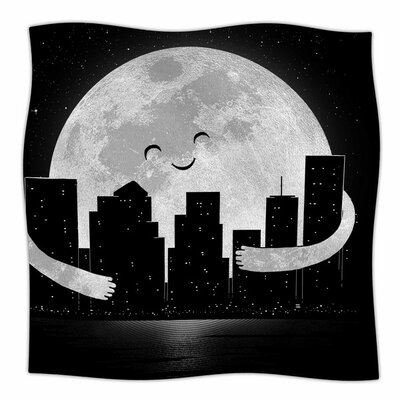 Goodnight by Digital Carbine Fleece Blanket