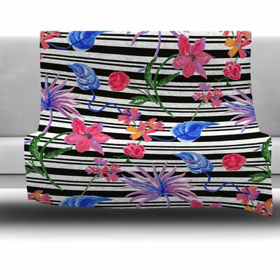 Flower Party by DLKG Design Fleece Blanket