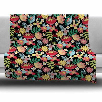 Flower Power by DLKG Design Fleece Blanket