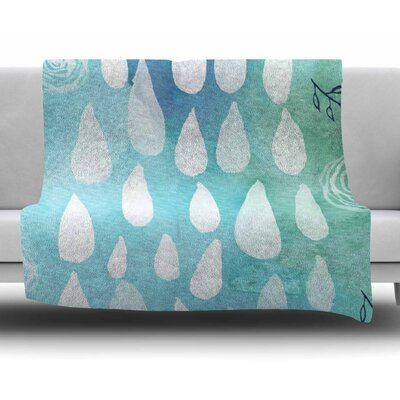 Rain by Li Zamperini Fleece Blanket