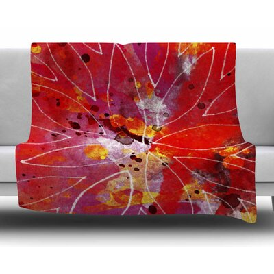 Flame by Li Zamperini Fleece Blanket