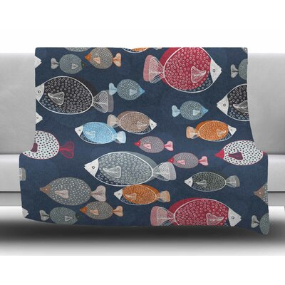 Swim School by Melissa Armstrong Fleece Blanket