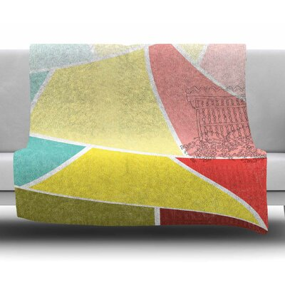 Cartagena Balconies by MaJoBV Fleece Blanket Size: 60 L x 50 W