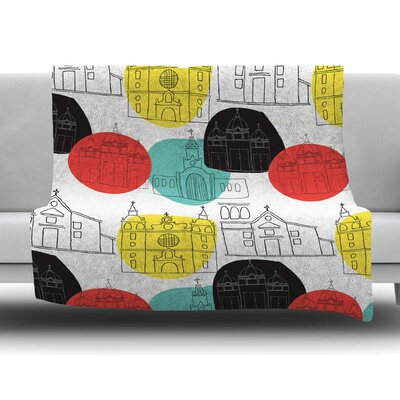 Cartagena Churches by MaJoBV Fleece Blanket