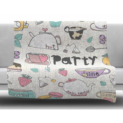 Tea Party by MaJoBV Fleece Blanket