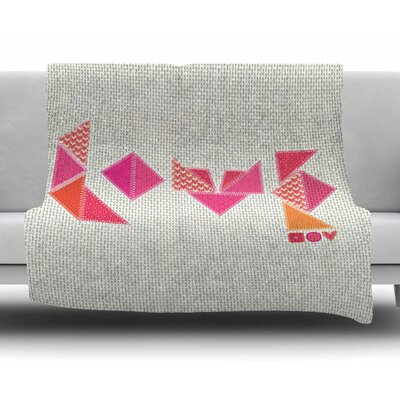 Stitched Love by MaJoBV Fleece Blanket
