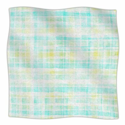 Watercolour Tartan Fleece Blanket Size: 60 L x 50 W