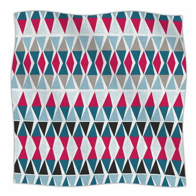 Triangle Circus Drums by Michelle Drew Fleece Blanket Size: 40 L x 30 W