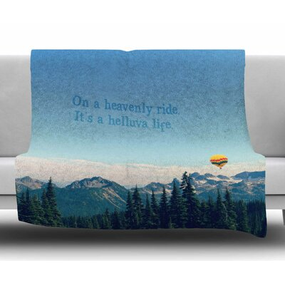 Its a Helluva Life by Robin Dickinson Fleece Blanket