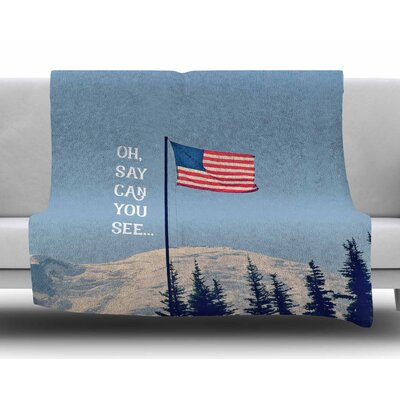 Oh Say Can You See by Robin Dickinson Fleece Blanket