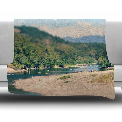 Summertime Float by Robin Dickinson Fleece Blanket