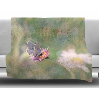 Turn The Country Up by Robin Dickinson Fleece Blanket