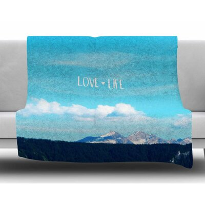 Love Life by Robin Dickinson Fleece Blanket