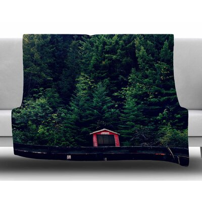 Woods by Robin Dickinson Fleece Blanket