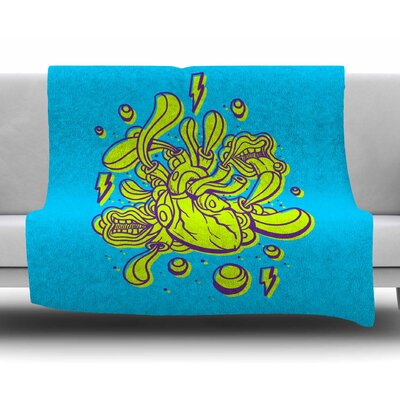 Doodle Surreal Heart by Roberlan Fleece Blanket