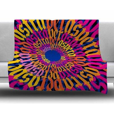 Ad Astra Per Aspera Mandala by Roberlan Fleece Blanket
