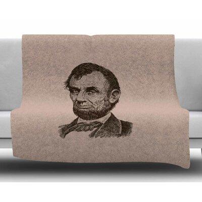 Abraham Lincoln by BarmalisiRTB Fleece Blanket