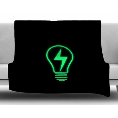Thunder Bulb by BarmalisiRTB Fleece Blanket