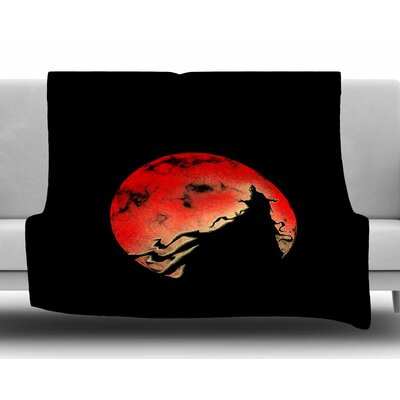 Black Cloak by BarmalisiRTB Fleece Blanket