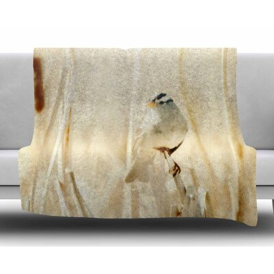 Bird in Ethereal Light by Sylvia Coomes Fleece Blanket