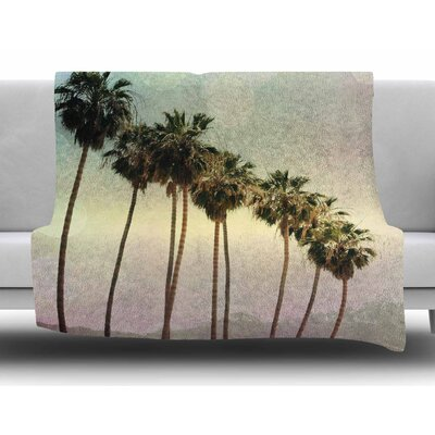 Palm Trees by Sylvia Coomes Fleece Blanket