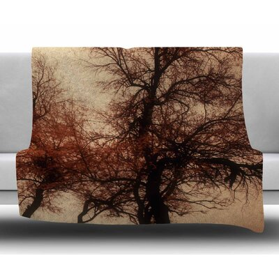 Rust Trees by Sylvia Coomes Fleece Blanket