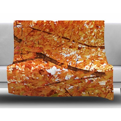 Fall Foliage by Sylvia Coomes Fleece Blanket