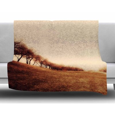 Minimalist Autumn Landscape by Sylvia Coomes Fleece Blanket