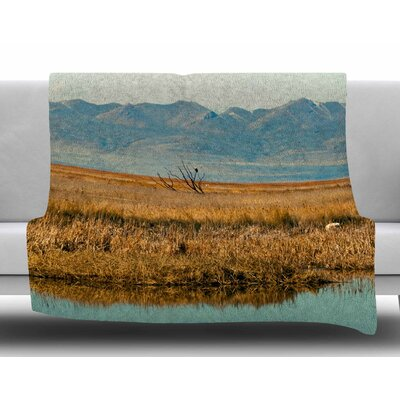 Reflective Landscape by Sylvia Coomes Fleece Blanket