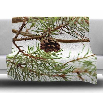 Pinecone by Sylvia Coomes Fleece Blanket