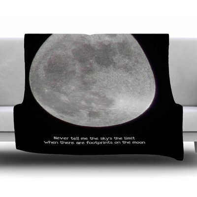 The Moon by Sylvia Coomes Fleece Blanket
