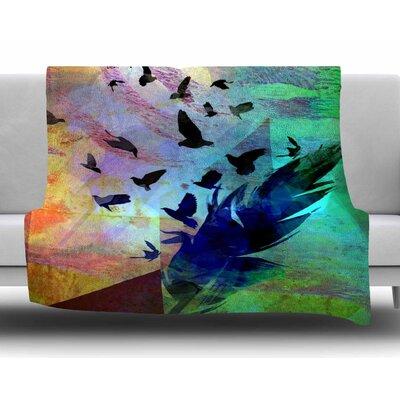 Not Quite Birds of a Feather by AlyZen Moonshadow Fleece Blanket