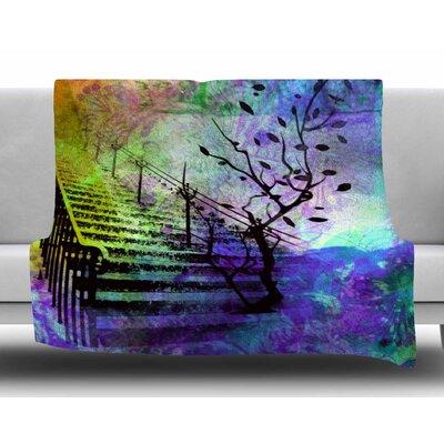 Stairway by AlyZen Moonshadow Fleece Blanket
