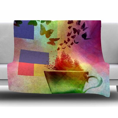 Teacup Fantasy by AlyZen Moonshadow Fleece Blanket