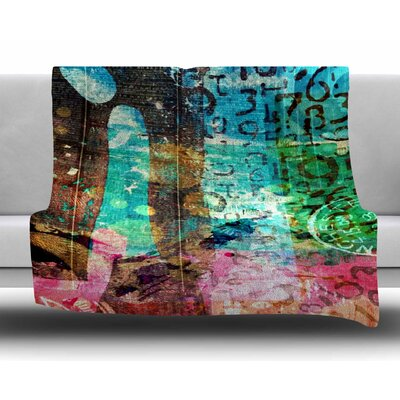 Abstract by AlyZen Moonshadow Fleece Blanket