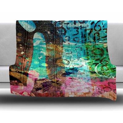 Abstract by AlyZen Moonshadow Fleece Blanket