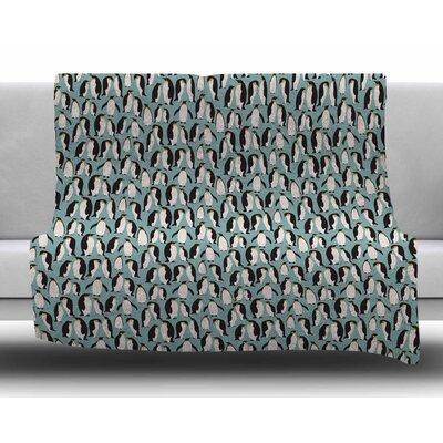 Penguin Colony by Mayacoa Studio Fleece Blanket