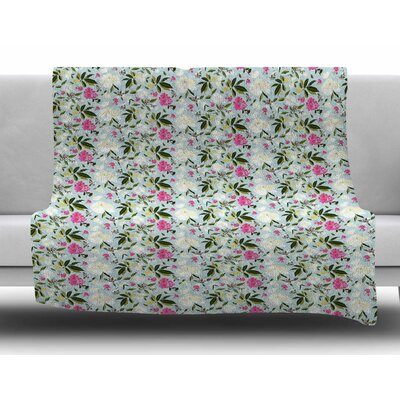 Romantic French Park by Mayacoa Studio Fleece Blanket