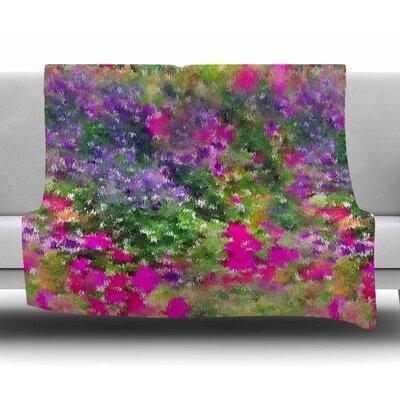 Water Florals by Carolyn Greifeld Fleece Blanket